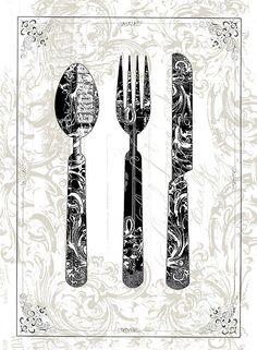 Kitchen Utensils Art i uploaded new artwork to plout-gallery.artistwebsites
