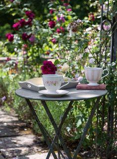 Tea in the rose garden ` Ana Rosa