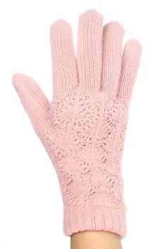 Delicate Lace winter gloves fleece lined for women @ www.sunben.com - wholesale fashion accessories