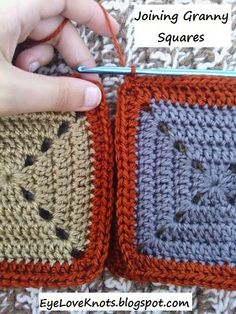 EyeLoveKnots: Tammy's Granny Square Lapghan - Free Crochet Pattern - Joining Granny Squares