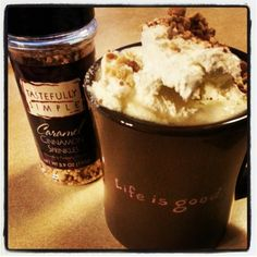 "Hot ""Apple Pie"" -> Hot apple cider with Rum Chata, whipped cream..."