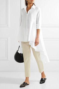 Co - Asymmetric Cotton-poplin Shirt - White -