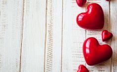 красный, предмет, сердечки, фон 1920x1200