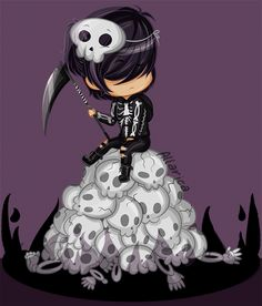 """all hail the ghost king "" Winner of artist's choice for my chibi giveaway over…"