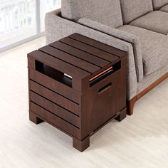 Furniture of America Crete Vintage Walnut Drop-Down Door End Table   Overstock.com Shopping - The Best Deals on Coffee, Sofa & End Tables