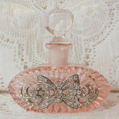 Jeweled Diamond Antique Parfume bottle. Apply with dapper