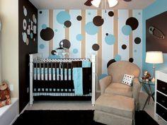 moderne wandgestaltung im jungs babyzimmer