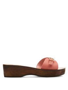 ANCIENT GREEK SANDALS Filia Sabot Leather Sandals. #ancientgreeksandals #shoes #sandals