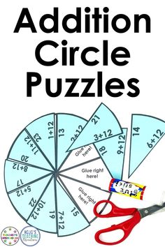 Basic math fact practice can be engaging, hands-on, and fun with this great download. Work on facts 7, 8, 9, 10, 11, & 12 with your 1st or 2nd grade classroom or homeschool students. These puzzle pies are great for math centers, stations, review, test prep, early or fast finishers, even homework, or a first or second graders math night with parents & families! Click through to check out the FREE preview and see these puzzles in action!  #Addition #1stGrade #2ndGrade #Math