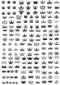 Majestic crown logo sketch prince and princess Vector