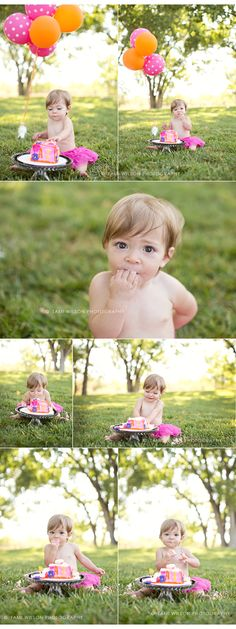 one year old baby session outdoor cake smash in denver, co  @Bambi Coppler  DO you like this for Ellie?  Or do you prefer the indor pics?
