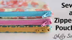 Diy Sewing Projects Great to sew for craft fairs - How to Sew a Zipper Pouch - 15 minute sewing project - Melly Sews - Written plus video tutorial shows you how to sew a zipper pouch - great practice for zippers and fun and quick gifts to make Diy And Crafts Sewing, Diy Sewing Projects, Sewing Projects For Beginners, Sewing Tutorials, Diy Pouch No Zipper, Zipper Pouch Tutorial, Zipper Bags, Bag Patterns To Sew, Sewing Patterns