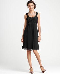 black bridesmaid dress- ann taylor