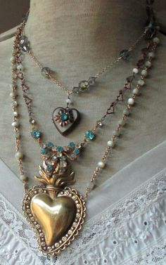 SOLD to Tami vintage assemblage necklace MY by TheFrenchCircus