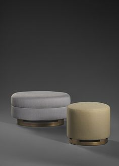 Bruno Moinard Editions - Gumi bench seat by Gotham Interiors, London Bench Furniture, Furniture Upholstery, Luxury Furniture, Furniture Design, Ottoman Stool, Round Ottoman, Sofa Chair, Chair Cushions, Soft Seating