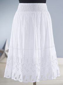 Eyelet Lace Skirt (ND-801)