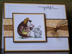 Stampin Up Hedgehog Happiness