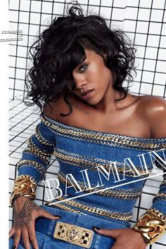 Rihanna's new Balmain S/S 2014 Ad Campaign