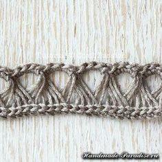 Patrón Calado bufanda palo de escoba del Perú (7)