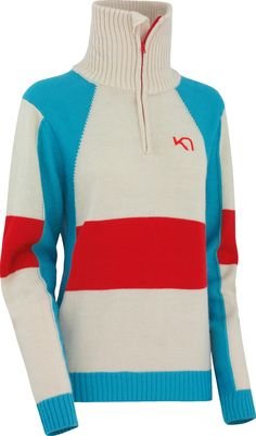 Kari Traa Vossa H/Z Knit Athletic, Zip, Knitting, Sweaters, Jackets, Outdoor, Fashion, People, Down Jackets