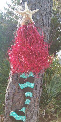 Handmade Wooden Mermaid Beach Decor by JeanneTierneyDesigns #craftshout2012 #beachdecor #mermaid