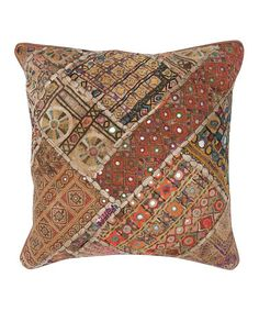 Take a look at this Brown Heavy Choki Throw Pillow by India's Heritage on #zulily today!