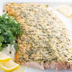 Easy Garlic Butter Herb Roasted Turkey Recipe | Wholesome Yum Cod Fish Recipes, Healthy Salmon Recipes, Pork Chop Recipes, Keto Recipes, Milk Recipes, Seafood Recipes, Keto Foods, Keto Meal, Lunch Recipes