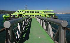 Ferry. Town of Troia