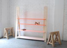 Gradient bookshelf by Jordi Lopez Aguilo