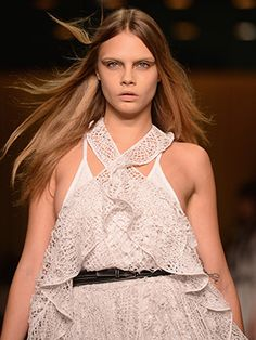 Cara Delevingne, Kendall Jenner, and Joan Smalls sported bleached eyebrows on the Givenchy runway last night