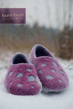 Handmade felted women slippers traditional natural wool valenki Purple gray cozy home shoes Felted Wool Slippers, Felt Shoes, Grandmother Gifts, Slipper Boots, All Things Purple, Felt Dolls, Womens Slippers, Felt Crafts, Knitting Socks