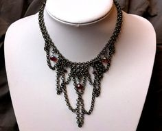 Dark fairytale necklace by IronLaceDesign on Etsy