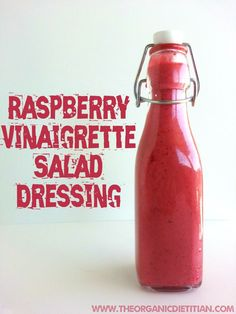 Raspberry Vinaigrette, easy, fast, no sugar, clean ingredients, real food, vegan, paleo - The Organic Dietitian