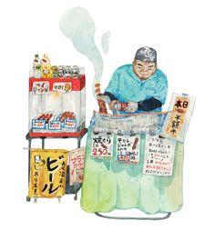 Tokyo Tsukiji Vendor_Illustration by Justine Wong of Patterns and Portraits.jpg