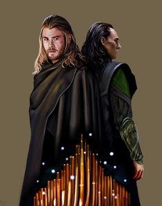 Stef's Heaven — sigun-i-loki: Loki and Tor by missstreelight