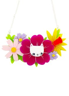 I Love Crafty | Spring Kittens Bouquet Necklace