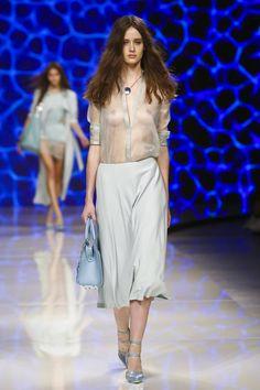 Aigner Ready To Wear Spring Summer 2016 Milan Fashion Oops, Live Fashion, Runway Fashion, Fashion Models, Fashion Show, Beautiful Asian Girls, Gorgeous Women, Hot Goth Girls, Transparent Clothes