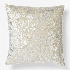 metallic texture pillow cover / west elm