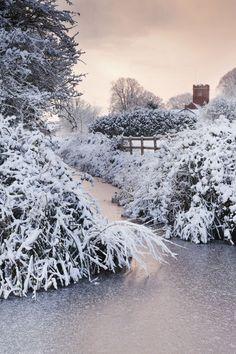 Wembdon in the Snow, St. George's Church in background, Somerset, England Copyright: Richard Winn