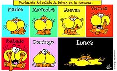 Days of the week - Días de la semana Spanish Posters, Spanish Jokes, Funny Spanish Memes, Spanish Vocabulary, Spanish Lessons Online, Spanish Teaching Resources, Spanish Activities, Learning Spanish, Why Learn Spanish