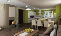 Výsledek obrázku pro obývací pokoj s kuchyní