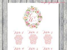 Watercolor Peonies Printable Custom Wedding by BrideandBows
