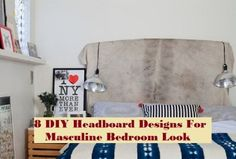 8 DIY Headboard Designs For Masculine Bedroom Look - About-Ruth Playhouse Loft Bed, Halloween Diy, Halloween Wreaths, Masculine Room, Coffee Table Inspiration, Simple Bedroom Design, Horse Pattern, Headboard Designs, Cool Coffee Tables