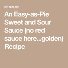 If you often find sweet and sour to be a little too 'sweet' and not enough 'sour,' try this recipe for a homemade version of the classic Asian sauce. Red Sauce, Allrecipes, Pie, Sweet, Easy, Salsa Roja, Torte, Candy, Cake