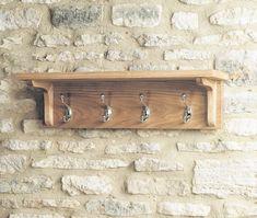 buy baumhaus mobel oak wall mounted coat rack online cfs uk