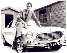 The Saint - Simon Templar (Roger Moore) and his Ivory white Volvo P1800S