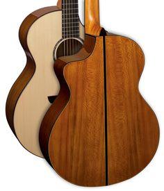Faith Acoustic Guitar. Signature Series London Plane Tree from the UK. catalogue image. Neptune Body shape. Designed by Patrick James Eggle.