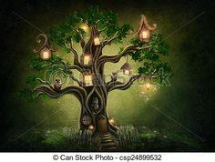 Stock Photo - Fantasy tree house - stock image, images, royalty free photo, stock photos, stock photograph, stock photographs, picture, pictures, graphic, graphics