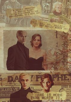 """Not normally a Dramione shipper but this is beautiful. """"she's worth more than it"""" - Dramione / Draco  Hermione"""