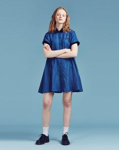 Lazy Oaf Denim Baby Doll Dress. - View all - NEW IN - Womens